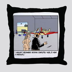Nude Skydiver Throw Pillow