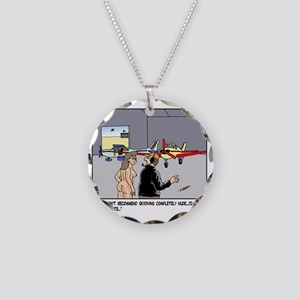 Nude Skydiver Necklace Circle Charm