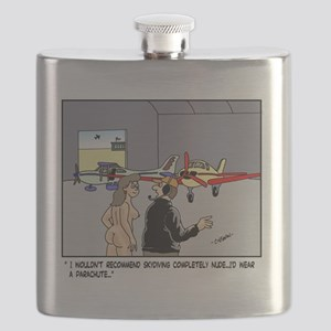 Nude Skydiver Flask