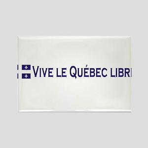 Vive Le Quebec Libre Rectangle Magnet