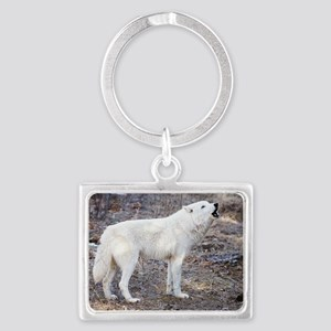 """Lost  Wolf"" Landscape Keychain"