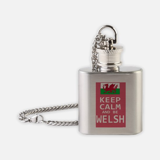 Keep Calm and Be Welsh Flask Necklace
