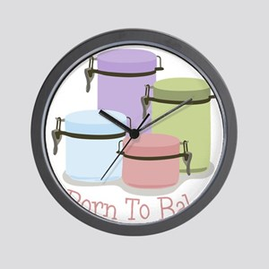 Born To Bake Wall Clock