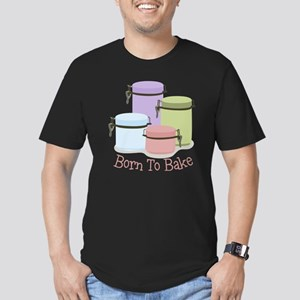 Born To Bake Men's Fitted T-Shirt (dark)