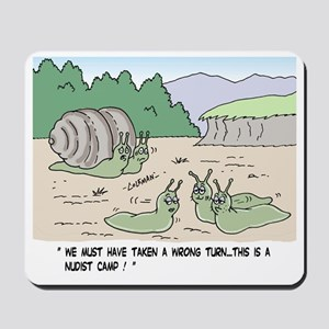 Snails In A Nudist Camp Mousepad