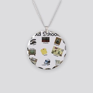 Before Social Media Necklace Circle Charm