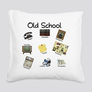 Before Social Media Square Canvas Pillow