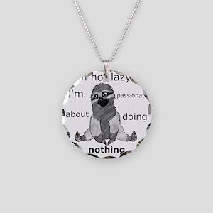 Lazy sloth Necklace Circle Charm