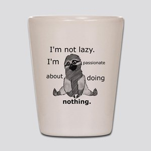 Lazy sloth Shot Glass