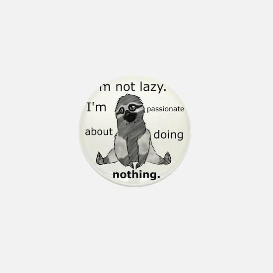 Lazy sloth Mini Button