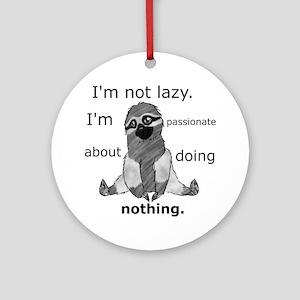Lazy sloth Round Ornament