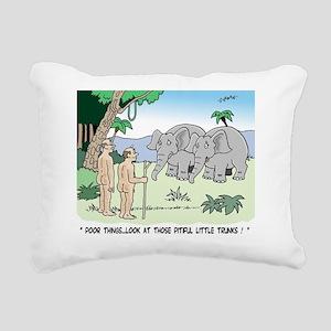 Elephants Pitying Nudist Rectangular Canvas Pillow