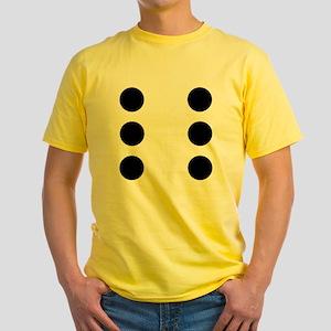 DICE6 Yellow T-Shirt