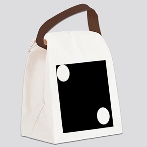 Black Dice 2 Canvas Lunch Bag