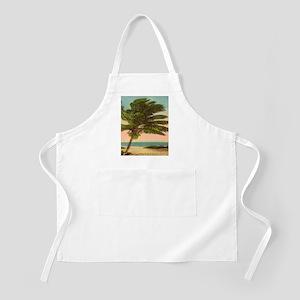 Vintage Sanibel Palm Tree Postcard Apron