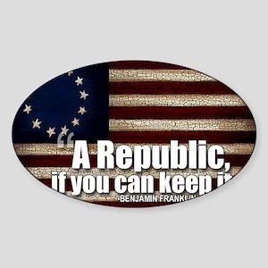 A Republic Sticker (Oval)