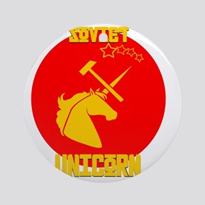 Soviet Unicorn Round Ornament