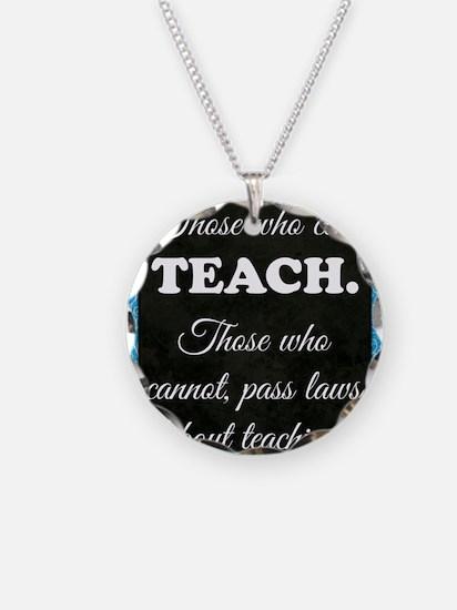 TEACHERS Necklace Circle Charm