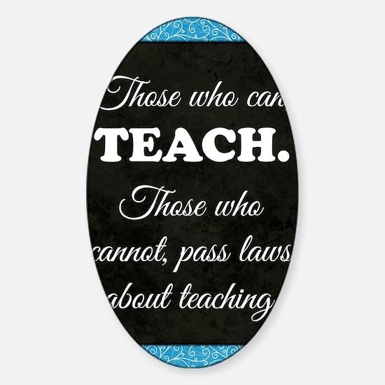 TEACHERS Sticker (Oval)