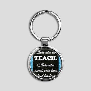 TEACHERS Round Keychain