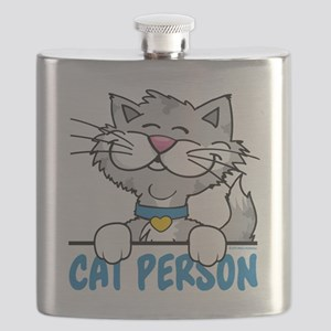 Cat Person Flask