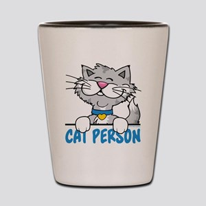 Cat Person Shot Glass