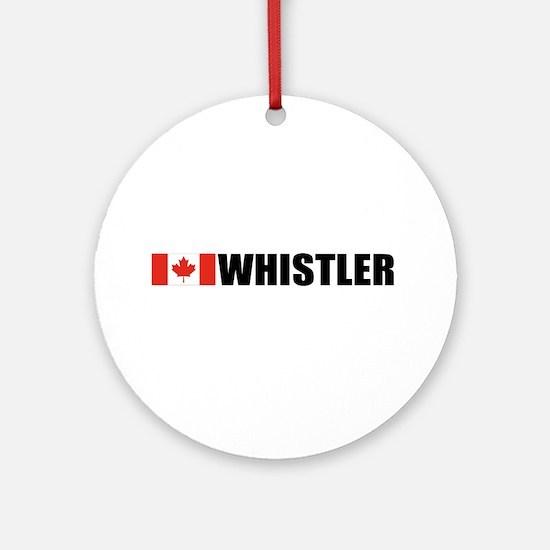 Whistler, British Columbia Ornament (Round)