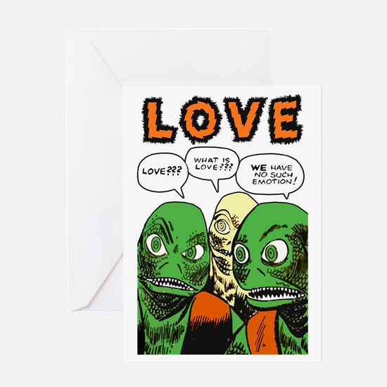 Love scifi vintage Greeting Card
