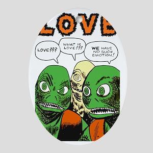 Love scifi vintage Oval Ornament