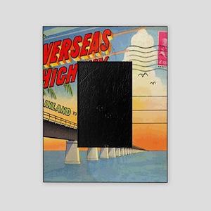 Vintage Key West Florida Postcard Picture Frame