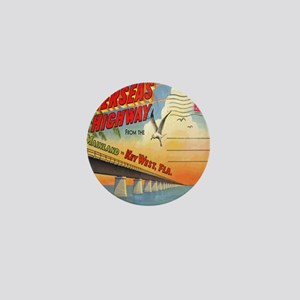 Vintage Key West Florida Postcard Mini Button