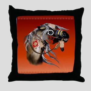 SHOWER CURTAIN=War Horse Throw Pillow