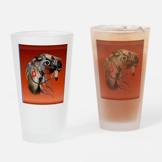 SHOWER CURTAIN=War Horse Drinking Glass