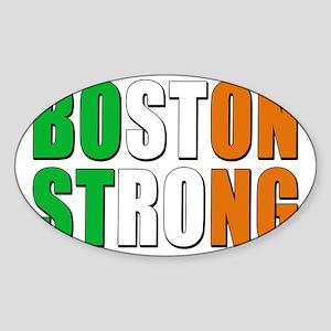 irish Boston Strong Sticker (Oval)