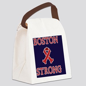 Boston Strong Ribbon Canvas Lunch Bag