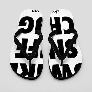 Swirl Sniff Chug Label Flip Flops