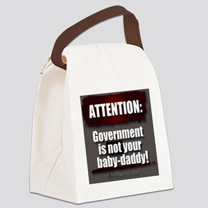 Attention Canvas Lunch Bag