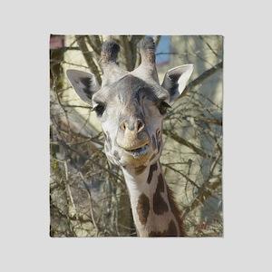 Female Giraffe Throw Blanket