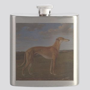 Vintage Greyhound Painting Flask
