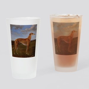 Vintage Greyhound Painting Drinking Glass