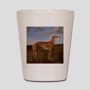 Vintage Greyhound Painting Shot Glass