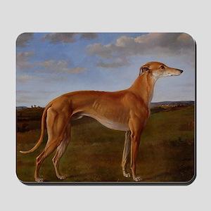 Vintage Greyhound Painting Mousepad