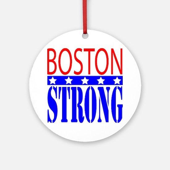 Boston Strong Tee Shirt Round Ornament