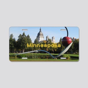 Minneapolis_5x3rect_sticker Aluminum License Plate