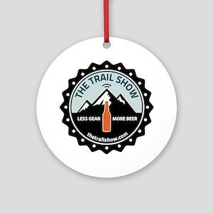 The Trail Show - New Logo Round Ornament