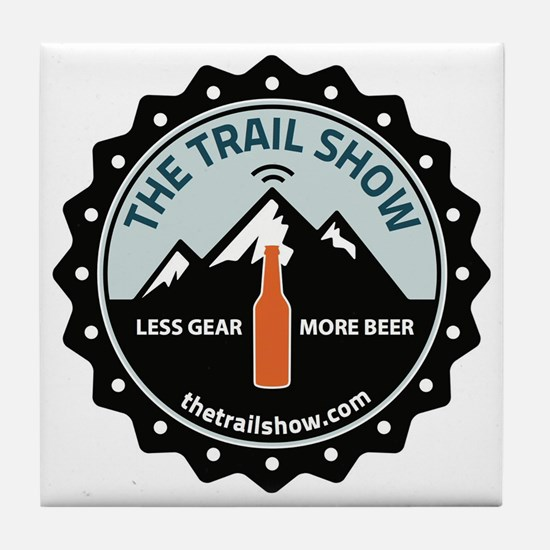 The Trail Show - New Logo Tile Coaster