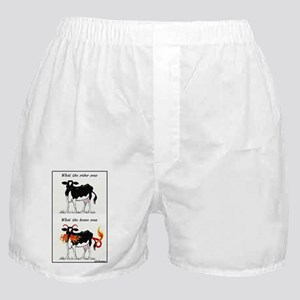 Cows -Who Sees What Boxer Shorts