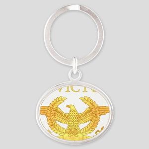 Invictus Eagle Oval Keychain