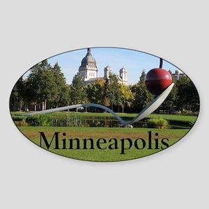 Minneapolis_10X8_puzzle_Spoonbridge Sticker (Oval)