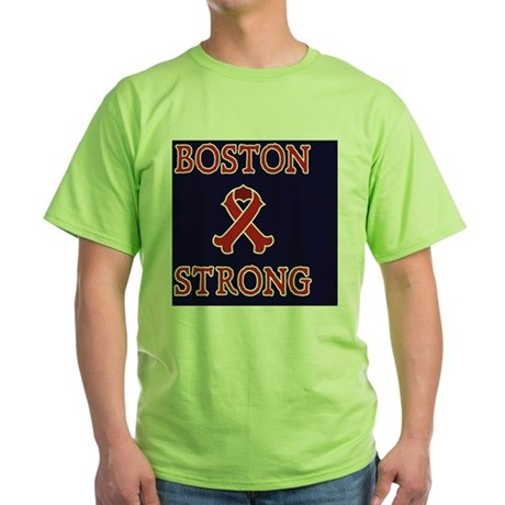 Boston Strong Ribbon Green T-Shirt